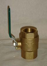 "Picture of 1-1/2"" Brass Shut Off Valve, Model AZP-BBV-15"