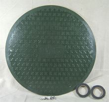 "Picture of Fiberglass Cover for 24"" I.D. Basin, Model BTO-C24WF-TRD"