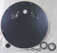 "Picture of Steel Cover for 24"" Inside Diameter Basin, Model BTO-C24SSL"