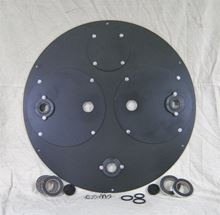 "Picture of 1/4"" Steel Cover for 36"" I.D. Basin Model BTO-C36DSA"