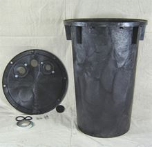 """Picture of 18x30"""" Structural Foam Basin w/Gas Tight Cover, Model BTO-SFE18x30-RD"""