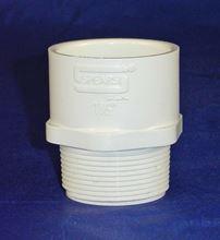 """Picture of 1-1/2"""" Sch40 PVC Male Adaptor, Model APVC-ADP-15"""