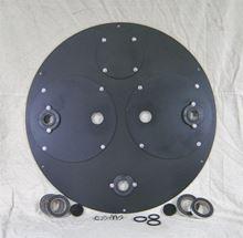 "Picture of Steel Cover for 24"" Diameter Basin, Model BTO-C24DSA-03"