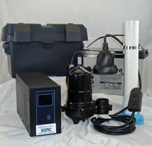 Picture of Single Pump AC/DC Battery Back-up System, Model PION-30ACI-P