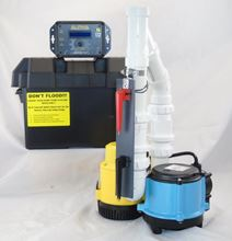 Picture of Submersible AC Pirmary & 12 Volt DC Battery Back-Up Packaged System, Model PK-ALP-6CIA12v2