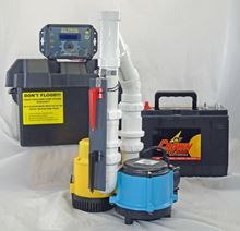 Picture of Submersible AC Pirmary & 12 Volt DC Battery Back-Up Packaged System, Model PK-ALP-6CIA-12V